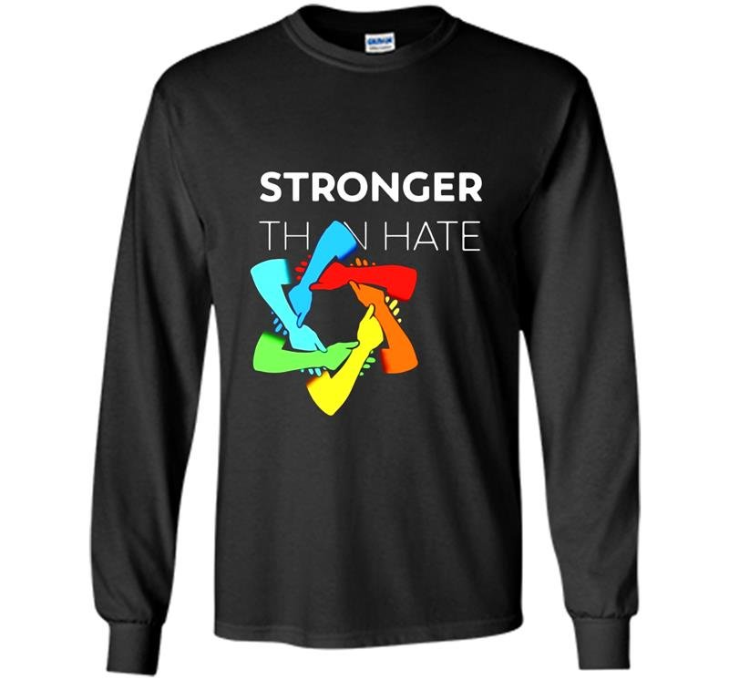 Stronger than hate iconic pittsburgh steelers logo jewish star Long Sleeve