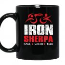 Iron sherpa tri sherpa triathlonhaul cheer beer Mug Black