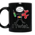 I twist balloon artist busybodies stick figure gift Mug Black