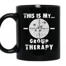 Shooting is my group therapy gun supportfunny Mug Black