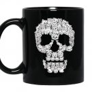 Sketchy cat skullfunny gif for cat lover Mug Black