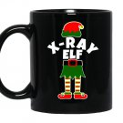 X-ray elf christmasx ray technologist rad tech xray Mug Black