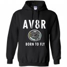 Av8r airplane speedometer born to fly pilot Hoodie