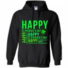 Happy st patricks day green lucky leaf Hoodie