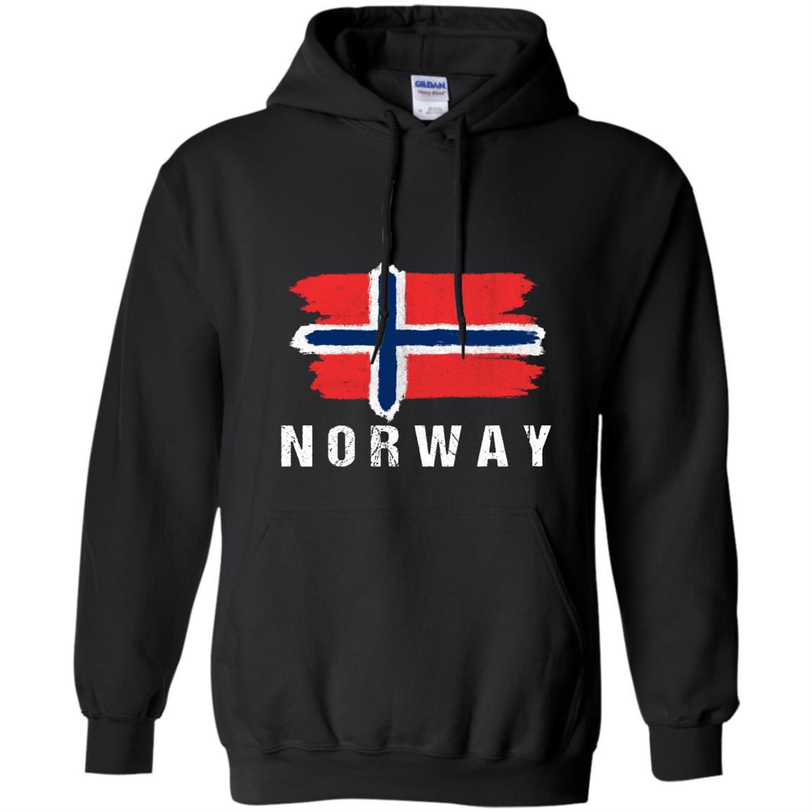 Painted norway flag pullover norwegian flag hood Hoodie