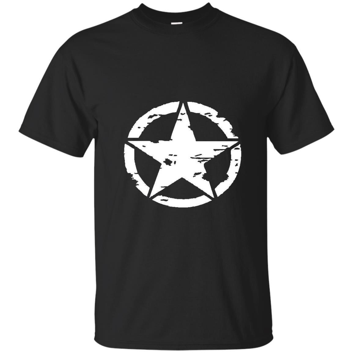 Oscar mike jeep military star T-shirt