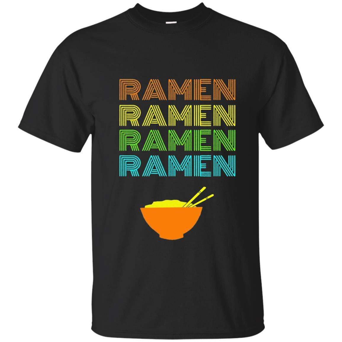 Ramen bowl vintage text japanese anime fans T-shirt