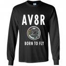 Av8r airplane speedometer born to fly pilot Long Sleeve
