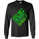 Kiss me im irish lucky leaf patricks day Long Sleeve