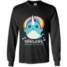 Narwhal unicorn of the sea funny kawaii whale cute Long Sleeve