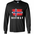 Painted norway flag pullover norwegian flag hood Long Sleeve