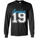 Senior class of 2019 blue jersey style Long Sleeve