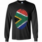 South africa dna flag thumb fingerprint roots proud Long Sleeve
