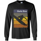 Costa rica surfing lovers beach surf fans Long Sleeve