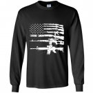 Usa guns weapons flag rifles stripes armed america Long Sleeve