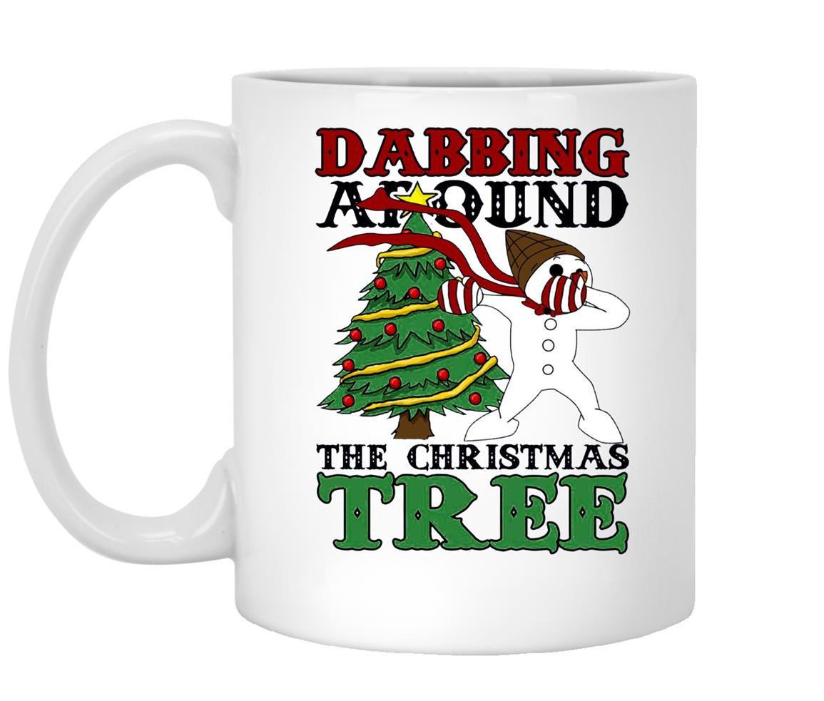Dabbing around the christmas tree mr bingle Mug White