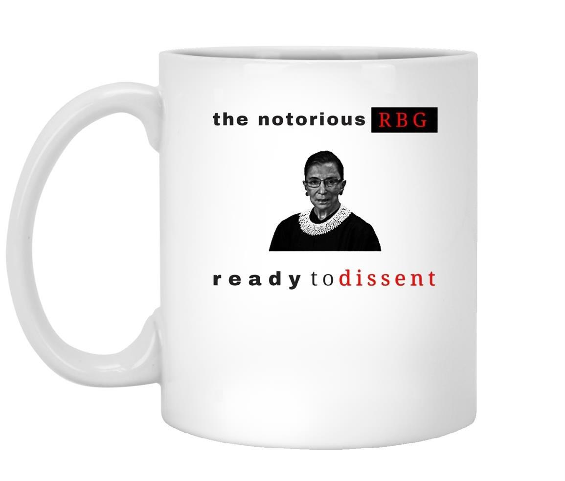 Notorious rbg ready to dissen Mug White
