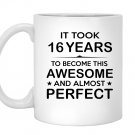 Sixteen 16 year old 16th birthday gift ideas Mug White
