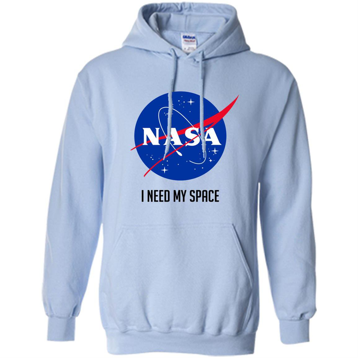 Nasa meatball logo i need my space text Hoodie