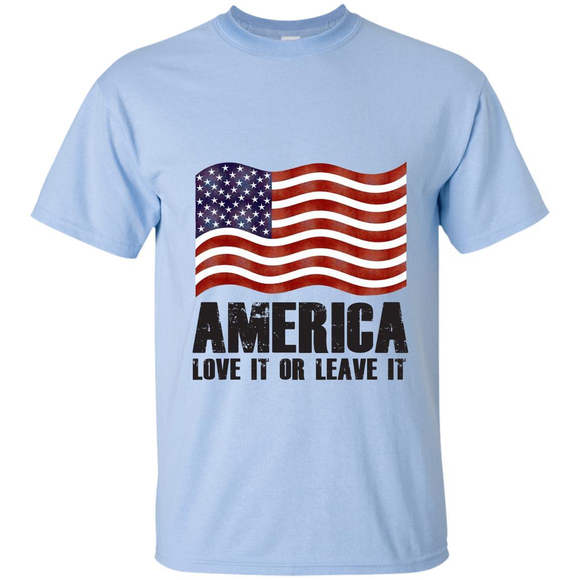 America love it or leave it patriotic american flag T-shirt