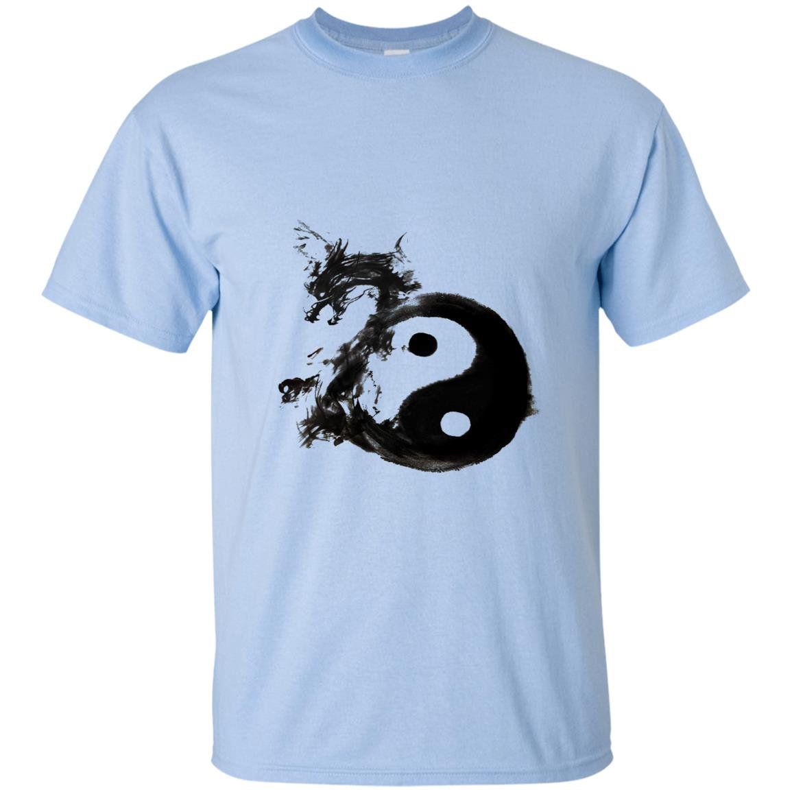 Tai chi symbol with dragon in water ink T-shirt