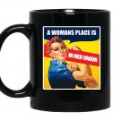 Place is in her union feminist Mug Black