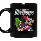 Basset hound avengers Mug Black