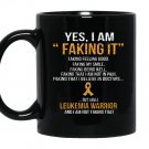 I am a leukemia warrior Mug Black