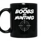 I love boobs and hunting hunter Mug Black