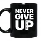Mo salah never give up Mug Black