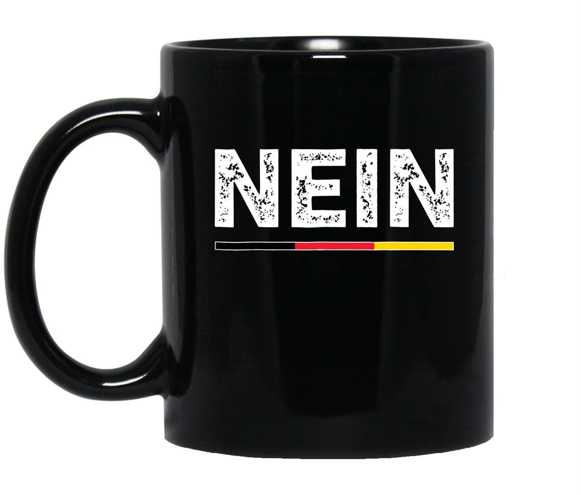 Neingerman no saying funny germany vintage Mug Black