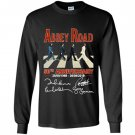 Abbey road 50th anniversary the beatles signatures 1969 2019 Long Sleeve