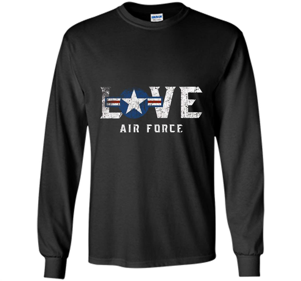Usaf badge pride gift us air force proud veteran Long Sleeve