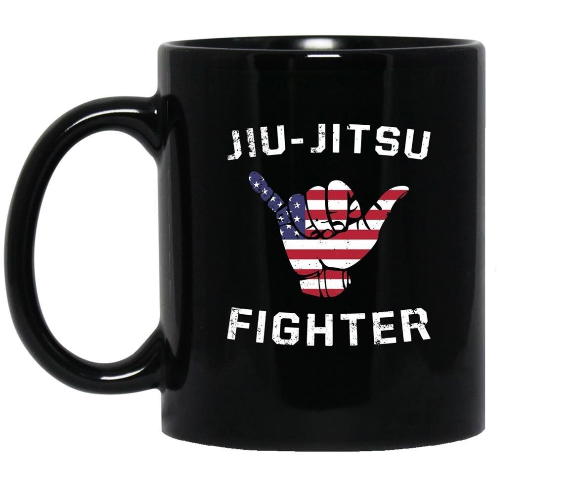 Brazilian jiu jitsu fighter usa shaka Mug Black