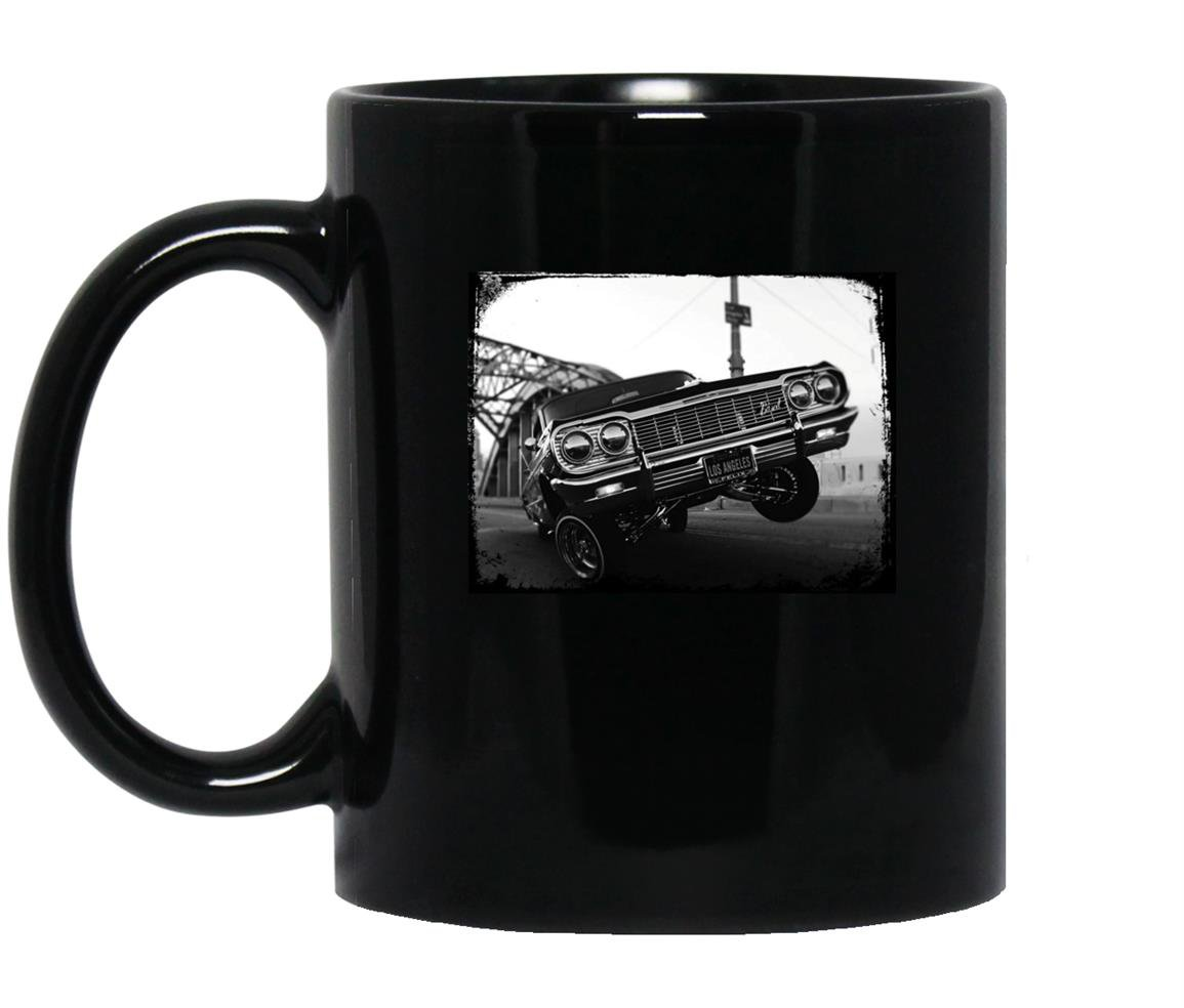 Classic los angeles old school lowrider Mug Black