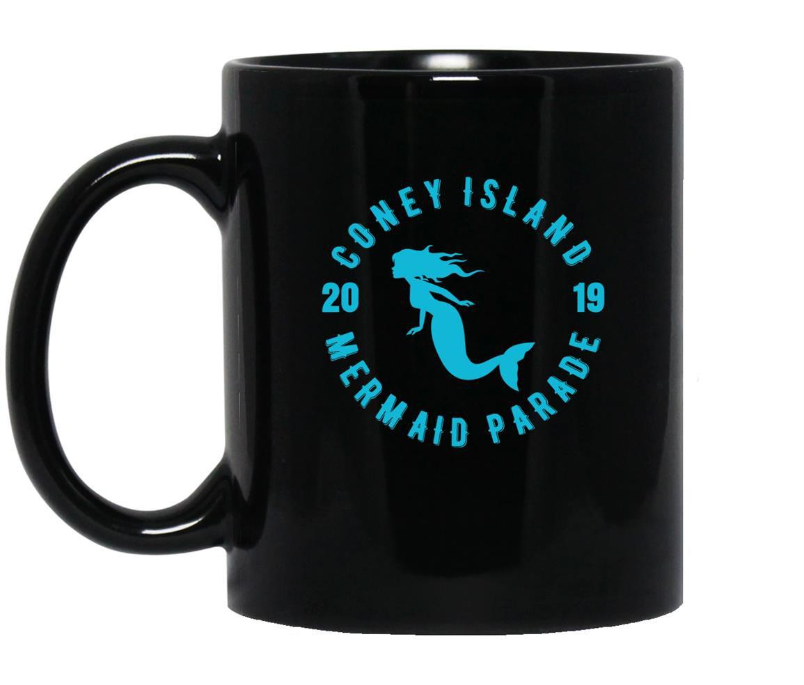 Coney island mermaid parade 2019 brooklyn nyc Mug Black