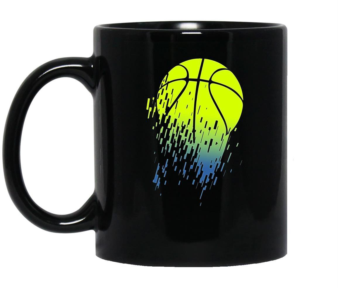 Disintegrating basketball graphic medium Mug Black
