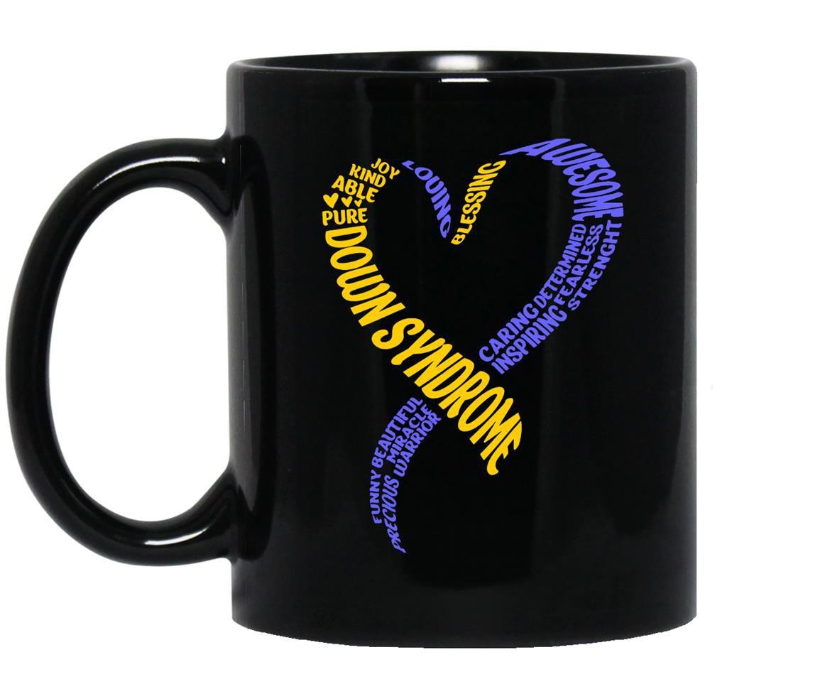 Down syndrome Mug Black