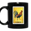 El gallo chicken mexican rooster loteria card Mug Black