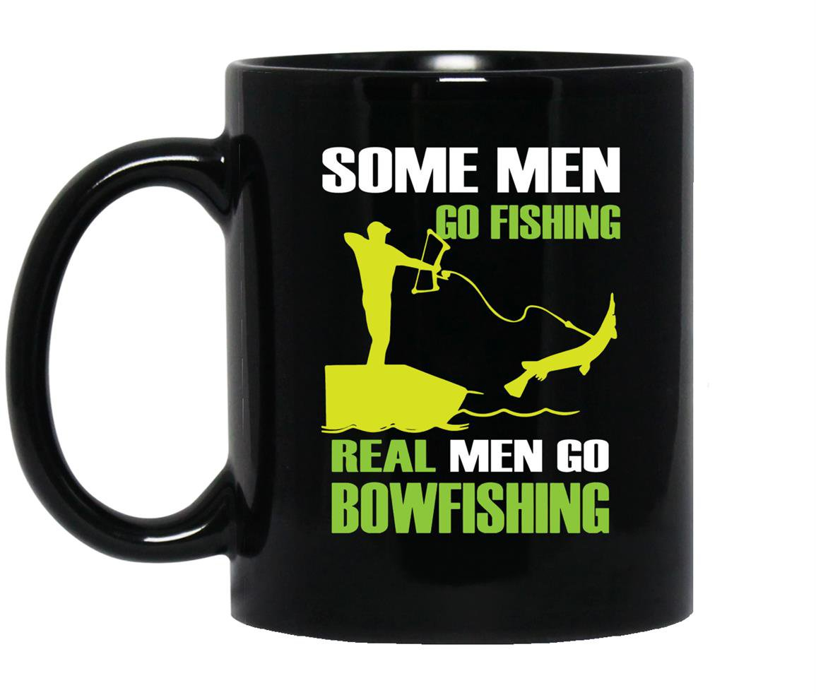 Funny fisher love bowfishing Mug Black