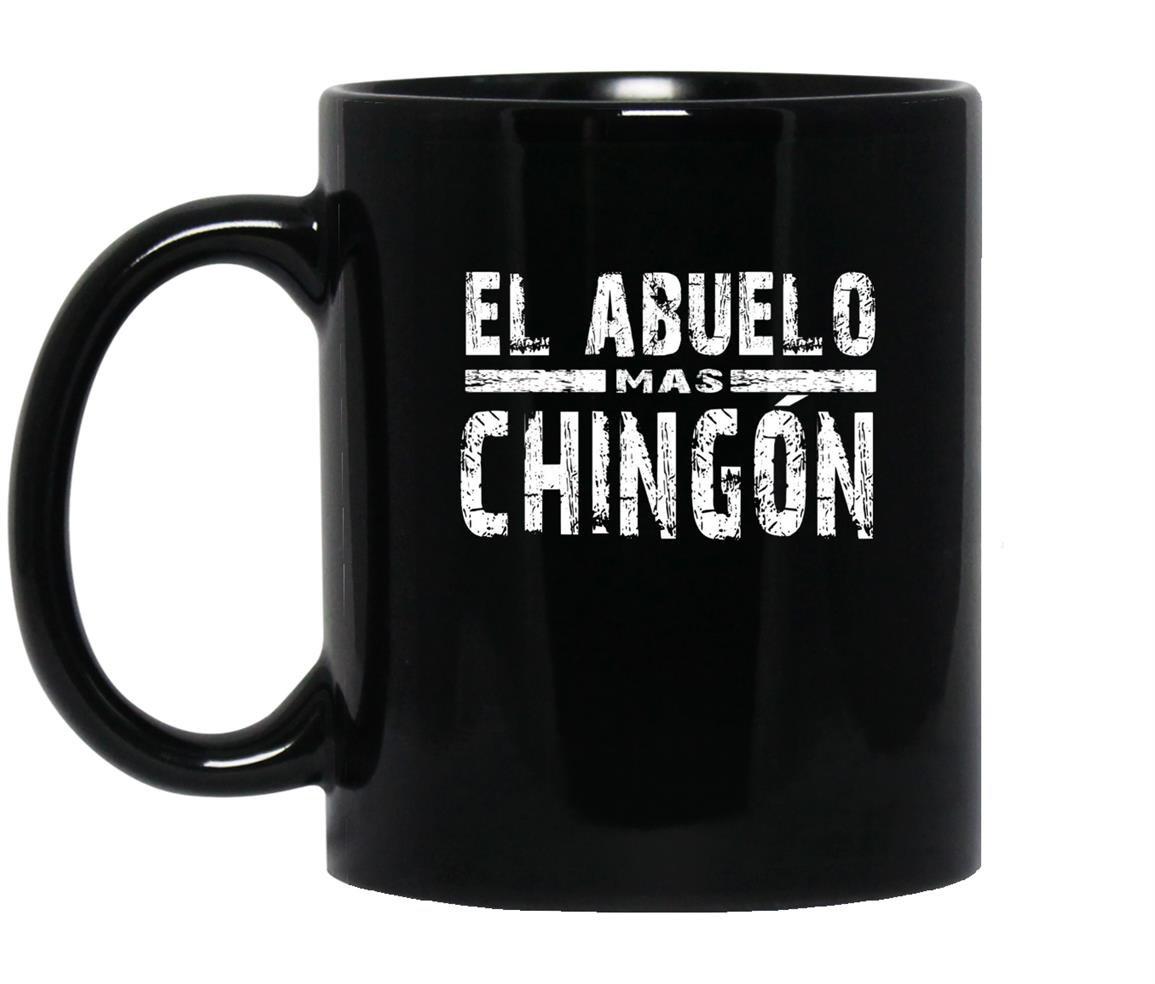 Funny spanish el abuelo mas chingon Mug Black