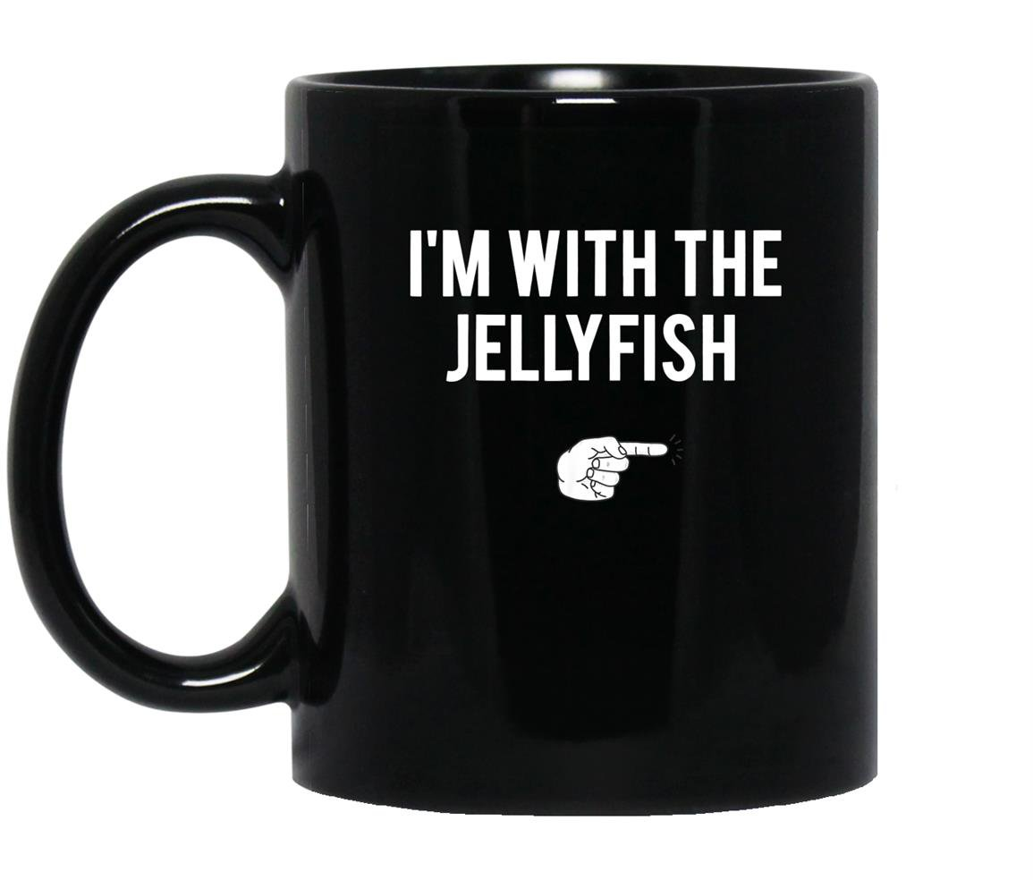 Im with jellyfish halloween costume funny couples Mug Black
