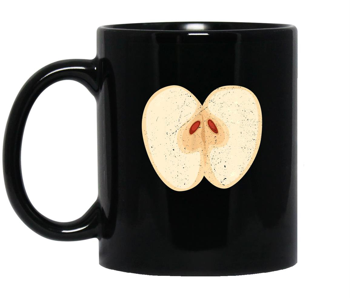 Juicy red apple funny fruit lover halloween costume Mug Black