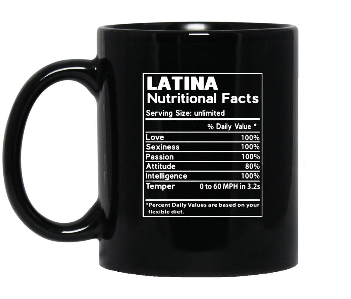 Latina nutritional fatcs Mug Black