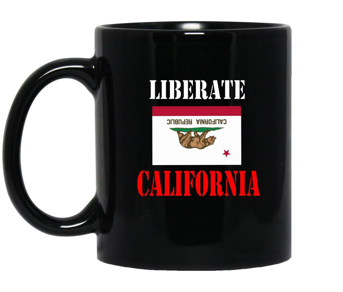 Liberate california Mug Black