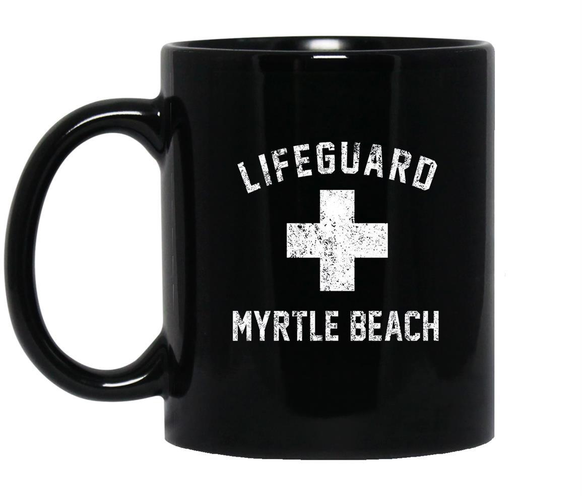 Lifeguard myrtle beach south carolina swimming pool Mug Black