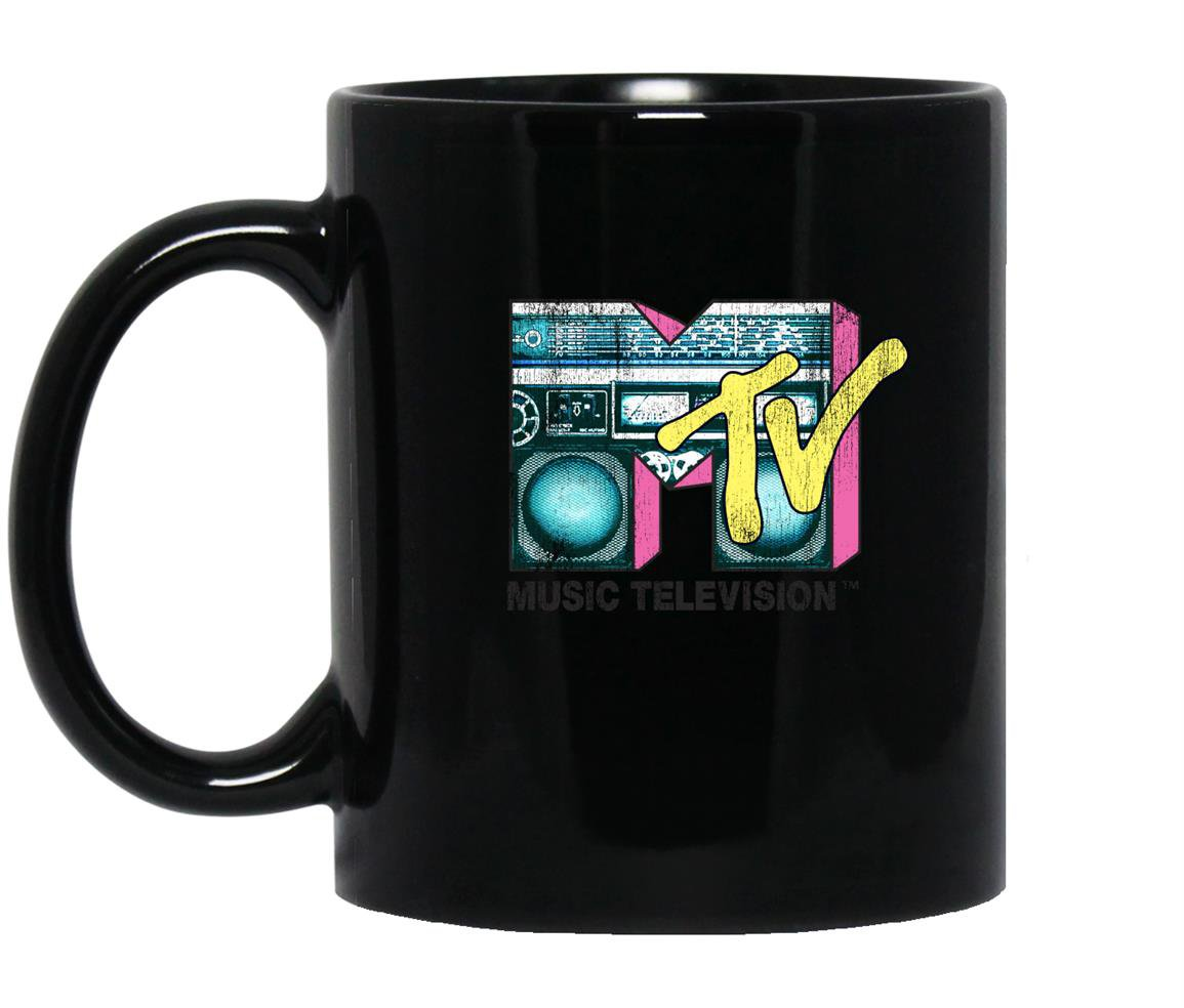 Logo retro teal boombox Mug Black