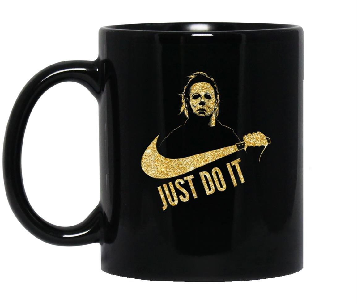 Michael myers just do it Mug Black