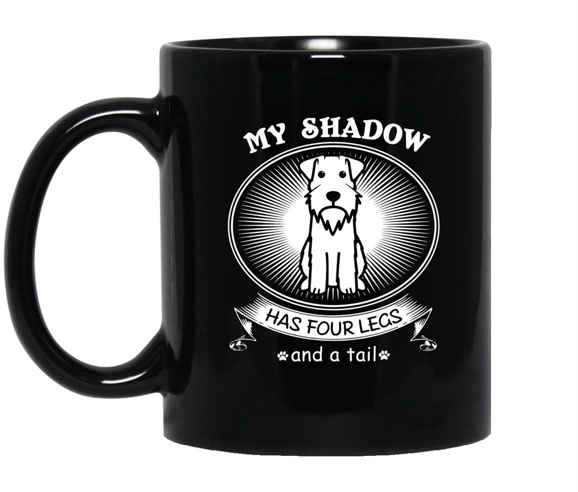Mini schnauzer gift schnauzer dog shadow Mug Black