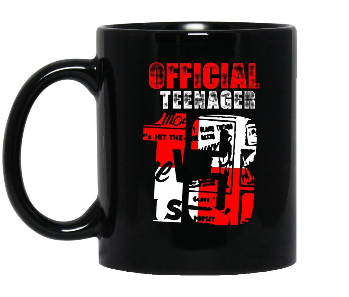 Official teenager 13 officially a teenager Mug Black